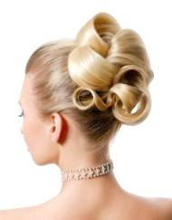 Фото - підняті волосся у весільній зачісці