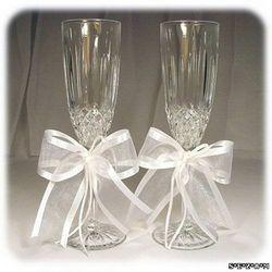 Оформлення весільних бокалів своїми руками