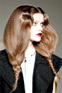 Фото - Зачіска гофре з плетінням
