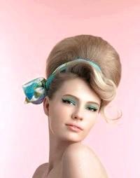 Фото - Зачіска в стилі 60-х бабета зі стрічкою