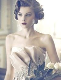 Фото - Весільна ретро зачіска хвилі на коротке волосся.