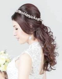 Фото - Ретро зачіска для нареченої з довгим волоссям.