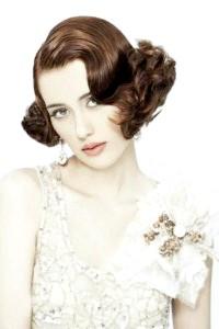 Фото - Ретро зачіска хвилі для короткого волосся на весілля.