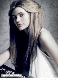 Фото - Зачіска з розпущеним волоссям і частково прибраними назад локонами