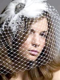 Фото - Зачіска з розпущеним волоссям, пір'ям і вуаллю