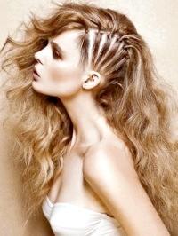 Фото - Зачіска з розпущеним волоссям і частковим плетінням