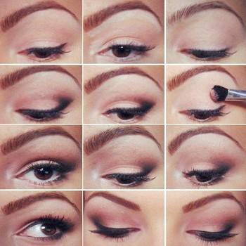 Шкільний макіяж для карих очей