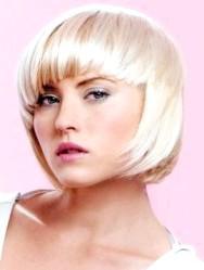 Фото - Середня креативна стрижка каре для волосся попелястого кольору
