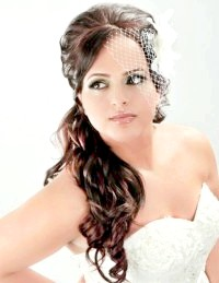 Фото - Зачіска хвіст на бік для нареченої.