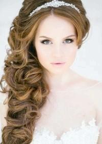 Фото - Весільна зачіска локони на бік.