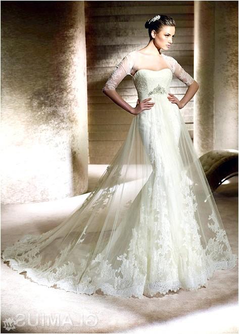 Фото - Прозоре весільну сукню з завішеної талією