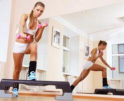 Спортивний одяг, взуття та степ-аеробіка