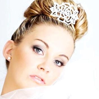 Весільний макіяж для сірих очей