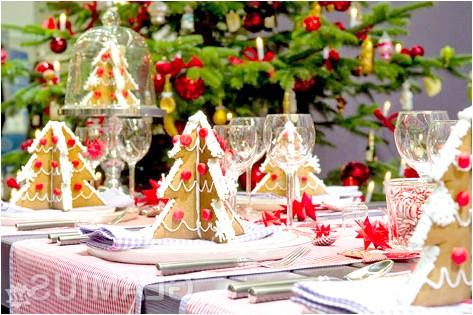 Прикраса столу на новий рік 2015