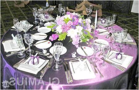 Фото - Весільний стіл у фіолетових кольорах