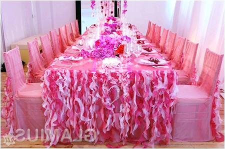 Фото - Весільний стіл в рожевих тонах